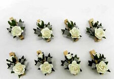 Bomboniere fai da te Mollettine con fiore accessorio Portaconfetti conf. 8pezzi