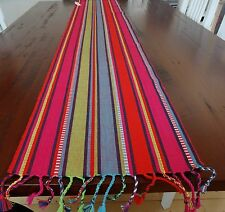 """BRIGHT COLOURFUL MEXICAN, FESTIVE LOOKING TABLE RUNNER """"MONTANA' 180CM LONG"""