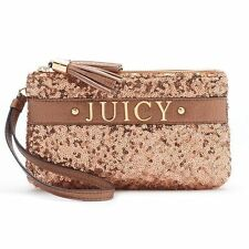 Juicy Couture Rose Gold Sequin Wristlet