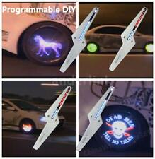 4X Programmable DIY Auto Car Colorful LED Wheel Light Shine Lamp Flash Animation