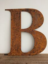 Large 40cm Letter B  Rusty Rusted Metal Industrial Sign Decoration Ornament