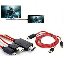 MHL Micro USB a HDMI 1080P HD TV Adaptador De Cable Para Samsung Galaxy S5 S4