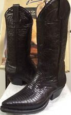 Joma Womens  Western Boots Black Lizard 533285 Size 4.5 M NEW