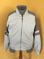 Men's MEMBERS ONLY Reversible Gray Grey Light Weight Jacket Retro Hipster Size M