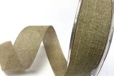 5m 25mm Faux Burlap Ribbon by Bertie's Bows ~ Christmas, Wedding, Wrap, Gift