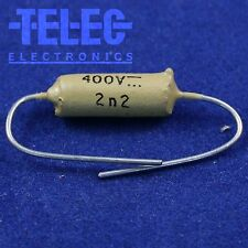 1 PC. Philips Mustard Capacitor 2.2nF / 0.0022uF / 400V