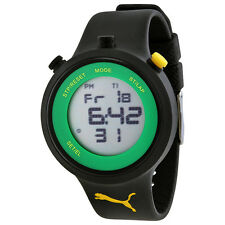 Puma Go Grey Digital Black Silicone Mens Watch PU910901007