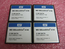 WD (SSD-C0002SC-7100) A100, 2 GB SATA, COMPACT FLASH (Lot of 4)