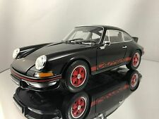 Welly NEX Porsche 911 Carrera RS 2.7 Black and Red Diecast Model Car 1/18