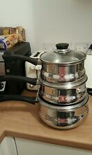 Inox pyramis cookware pan set with lids x 3