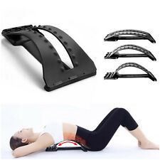 Back Massage Stretcher Equipment Stretch Lumbar Support Pain Relief Chiropractic