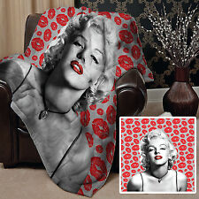 MARILYN MONROE SOFT FLEECE THROW BLANKET BED COVER BLANKET