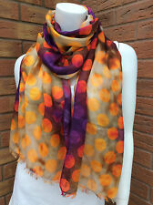 PAUL SMITH 100% MODAL MULTI SPOT PRINT SCARF/WRAP MADE IN ITALY
