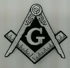 Freemason Masonic Silver and Black Iron on Patch