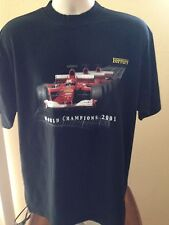 VINTAGE FERRARI 2001 WORLD CHAMPIONSHIP T SHIRT LARGE