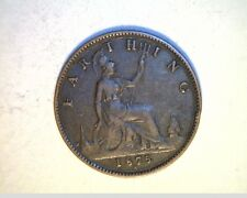 1875-H Great Britian, Farthing, High Grade Bronze Coin (UK-408)