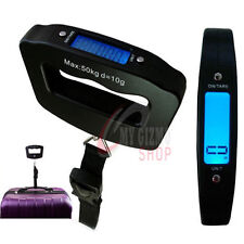 DIGITAL LUGGAGE SCALE 50KG PORTABLE HANDHELD WEIGHING TRAVEL SUITCASE BAG SCALES