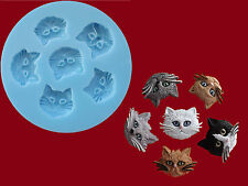 Cat Kitten Faces Sugarcraft Cake Decorating silicone mould Set Food Grade