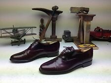 HAND CRAFTED MADE IN ITALY MARIO BRUNI BURGUNDY CAP TOE OXFORD POWER SHOES 10M