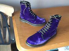 Vintage Dr Martens 1460 purple Velvet boots UK 5 EU 38 skin punk England