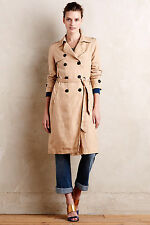 Women's Anthropologie Eva Franco French Linen Trench Coat Sz XSP