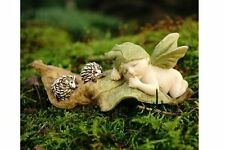 Miniature Sleeping Fairy Baby with Hedgehogs 4321 Fairy Garden Figurine
