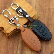 New Leather Smart Skin Key Cover Fit For Nissan Tiida Teana Qashqai 4 Buttons