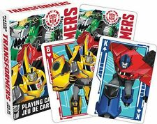 TRANSFORMERS - ROBOTS IN DISGUISE - PLAYING CARD DECK - 52 CARDS NEW - 52399