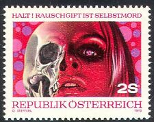 Austria 1973 Anti-Drugs/Health/Medical/Skull 1v n25706