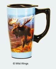 Spoontiques Moose Ceramic Travel Mug NEW