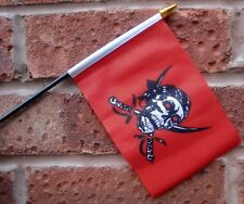 PIRATE RED SKULL flag PACK OF TEN SMALL HAND WAVING FLAGS Pirates