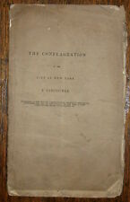 1836 THE CONFLAGRATION  GREAT FIRE NEW YORK RARE BROOKLYN SERMON ICHABOD SPENCER