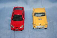 LOT 2 Die Cast Toy Cars Kinsfun Welly Honda Integra 1955 Ford Thunderbird open