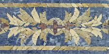 Flower Tile Art Border Skirting Pool Garden Home Marble Mosaic BD428