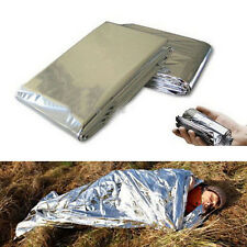 Portable Folding Silver Foil Emergency Camping Survival Rescue Blankets Thermal