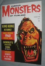 FAMOUS MONSTERS OF FILMLAND #6   Re - issue.   KING KONG