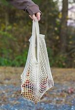Reusable String Shopping Grocery Bag Shopper Tote Mesh Net Woven Bag White