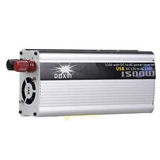 1500W 50 Hz Converter Modified Power Inverter Transverter Car DC 12V to AC 220V