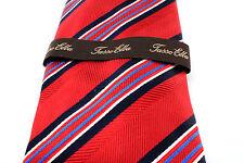 NWT Mens Tasso Elba Silk Suit Tie Necktie Fig Pack Stripe Navy Blue White Red