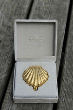 VERY RARE VINTAGE GIVENCHY III ❀GOLD BEAUTIFUL CLAM SHELL SOLID PERFUME✿