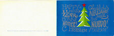 1971 Soviet Russian NEW YEAR card with GREETINGS in five languages