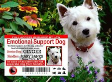 USA Service Dog ID Card, Emotional Support Card, Service Animal ADA Card,