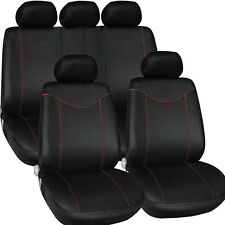 Original Car Seat Full Front Covers Set 5 Headrests Split Bench Cushion Cover