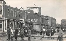 Ohio Postcard RPPC '12 PLAIN CITY Cyclone Disaster GENERAL STORE Electric Pole 9
