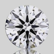 IGI Certified .53 G VS2 Round Excellent Cut Lab Grown Synthetic Diamond