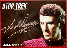 Star trek tos 50th jack donner, sous le commandant tal limited edition autographe carte