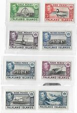 1938 FALKLAND ISLANDS STAMPS 1/2D TO 1 SHILLING MH
