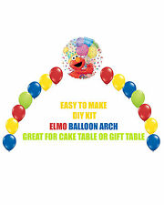 ELMO Birthday Party BALLOON ARCH for Cake Table Gift Table Sesame Street Party