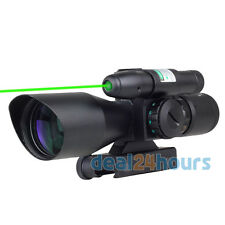 New Tactical 2.5-10x40 Red Green Mil-dot Rifle Compact Scope w/ Green Laser