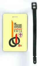 2015 World Scout Jamboree OFFICIAL SCOUTS SOUVENIR LUGGAGE TAG (YELLOW) ~ MINT